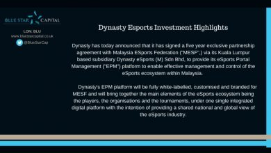 Photo of Blue Star Capital's Dynasty Esports Secures Cope with Malaysian Esports Governing Physique – European Gaming Trade Information