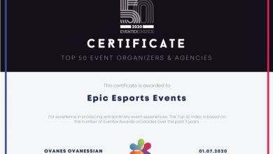 Photo of Epic Esports Occasions ranked 15th among the many 50 finest occasion firms on the earth by World Eventex Awards – European Gaming Trade Information