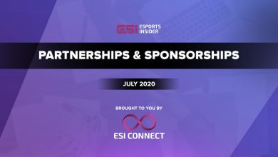 Photo of Esports partnerships and sponsorships highlights for July 2020
