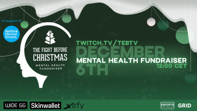 Photo of GRID companions with Rethink Psychological Sickness for charity CS:GO occasion