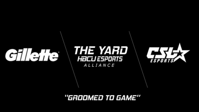 Photo of Gillette companions with The Yard: HBCU Esports Alliance and CSL Esports