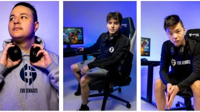 Photo of Evil Geniuses companions with attire firm POINT3