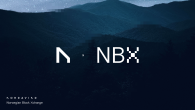 Photo of Nordavind companions with cryptocurrency agency NBX