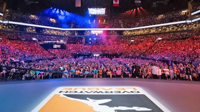 Photo of Overwatch League sponsors, previous and current